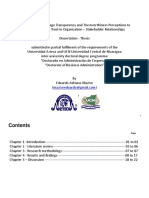 Mechanisms to Manage Transparency and Trustworthiness Perceptions to Build and Sustain Trust in Organization – Stakeholder Relationships
