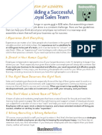 Rules for Building sales team