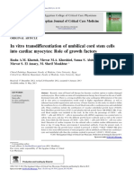 In Vitro Transdifferentiation of Umbilical Cord Stem Cells Into Cardiac Myocytes Role of Growth Factors 2013 the Egyptian Journal of Critical Care Med
