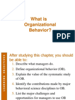 Chapter 1 - What is Organizational Behavior-Slides