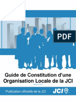 JCI Local Organization Constitution Guide FRE-2013-01