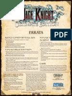 Mage Knight Ultimate-Errata 1.2