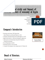 An analytical study on impacts of external factors on Apple Co.