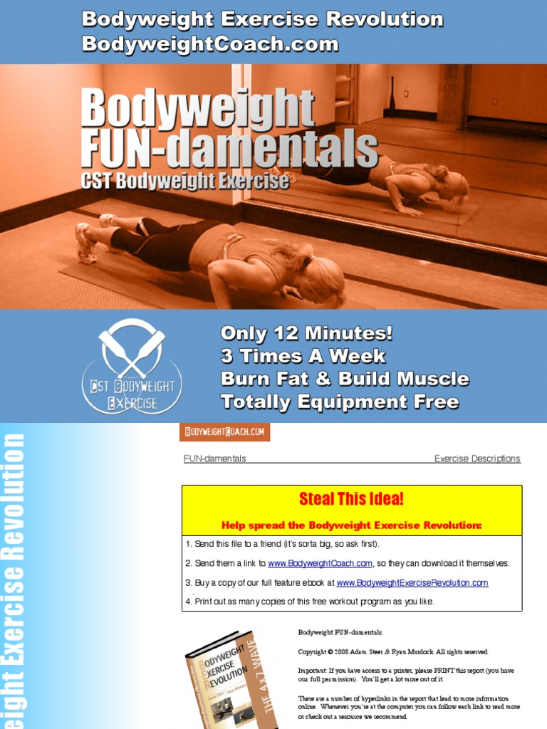 The complete bodyweight burn system equipment free workouts and syn….