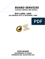 Coir Board Services (Classification, Control and Appeal) Bye-laws, 1969