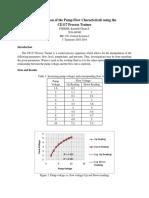 Pump Flow Characteristic - CE117 Process Trainer