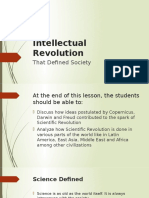 3 Intellectual Revolution That Defined Society