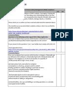 PSM Compliance Checklist