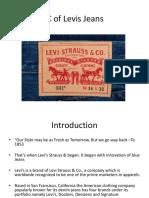 PLC of Levis Jeans