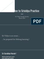 Introduction to Srividya Practice