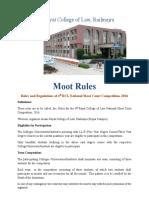 4. Moot Rules