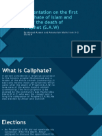 Presentation on the First Caliphate of Islam