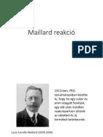 A Maillard Reakció