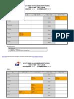 Jadual Nov 10~Feb 11-Intake Oct 10