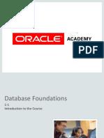 Database fondation oracle