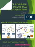 (1) Isolasi, Pemurnian, Karakterisasi Protein Rekombinan