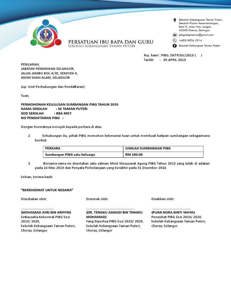 Surat Kebenaran Mengutip Sumbangan Pibg Docx