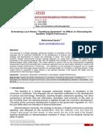 "Dramatizing Local History ""Topekkong Agreement"" Its Effects on Stimulating the Students' English Performance.pdf"
