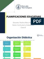 Clase 8 Tipos de Planificaciones