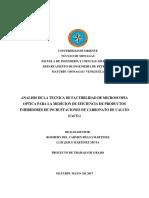 ANALISI DE FACTIBILIDAD DE LA TECNICA DE MICROSCOPIA OPTICA PARA LAMEDICION DE EFICIENCIA DE PRODUCTOS INHBIDORES DE INCRUSTACIONES DE CARBONATO DE CALCIO.docx