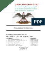 Cesion de Derechos Civil IV