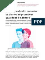 Garanta o Direito de Todos Os Alunos Ao Promover Igualdade de Generopdf