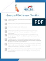 Amazon FBA Heroes Checklist