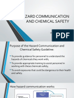 Hazard Communication and Chemical Safety