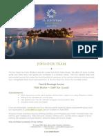 Job Advertisement - F&B Attendant (4)