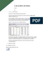 Apertura de Un Archivo de Datos