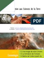 1 Cosmologie Et Naissance de La Terre