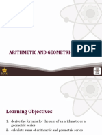 (9) Arithmetic and Geomertric Series
