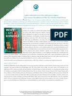 Why I Am a Hindu Press Release