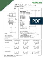 Temperature sensor PT100