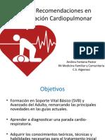 Nuevas Recomendaciones Para La Reanimación Cardiopulmonar ILCOR 2015