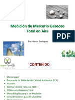 Medición de Mercurio Gaseoso Total en Aire Por Green Group