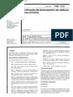 19.NB 1401 - Aditivos Para Concreto