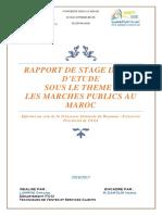 Rappoert Les Marchés Publique Au Maroc
