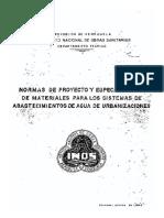 INOS. Normas y Especif. Para Sistemas de Abastec. de Agua de Urb