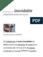 Acero Inoxidable - Wikipedia, La Enciclopedia Libre