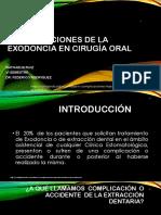 Complicaciones de La Exodoncia en Cirugía Oral