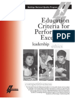 2009 2010 Education Criteria