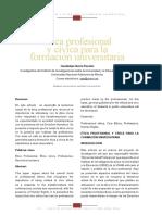 Ética profesional y cívica para la formación universitaria