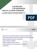Pronósticos Producción Gas Natural Yacimientos Maduro y Arena Compacta