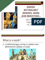Greek Mythology Notes