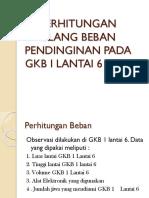PERHITUNGAN ULANG BEBAN PENDINGINAN PADA GKB I LANTAI.pptx