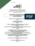 Rapport Financier Annuel 300610