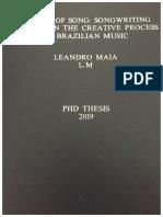 "Capa da Tese ""Poetics of Song"
