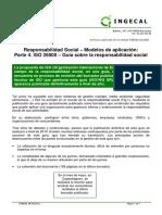 Responsabilidad Social Modelos de Aplicación. Parte 4 ISO 26000