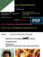 Unit 09 L29 to L30 - Fluid Flow Bernoulli Principle.pdf